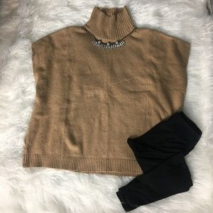 Lou and Grey Tan Sleeveless Poncho